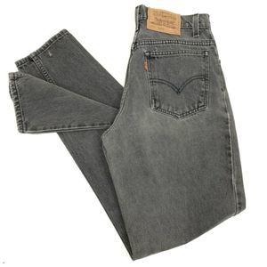 Vintage Levi's 950 Women's 28x32 Black Relaxed Fit